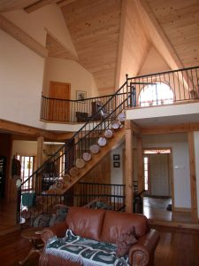 lakefield custom home - living room