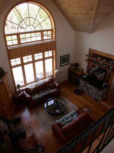lakefield custom home - living room window