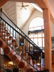 lakefield custom home - stair case