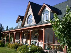 lakefield custom home - front exterior