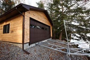 sandy lake boathouse - from water