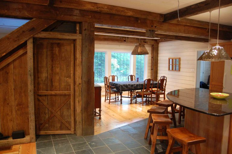 lakefield cottage build - kitchen area