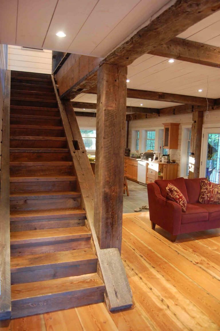 lakefield cottage build - stairs