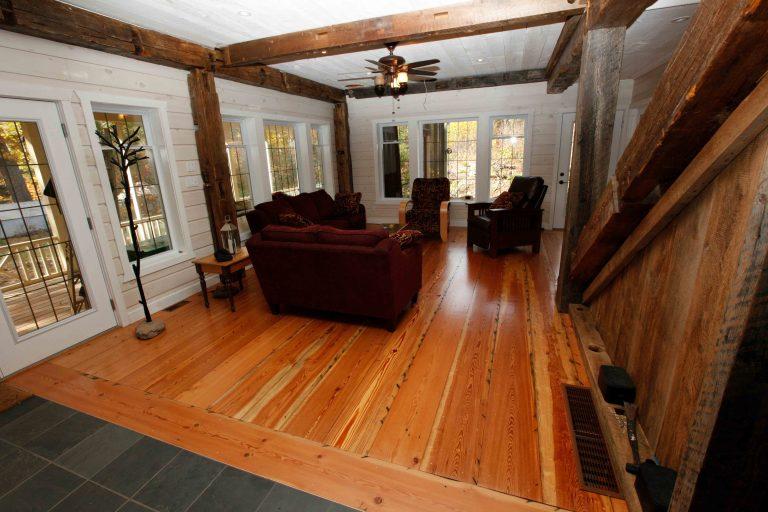 lakefield cottage build - living room