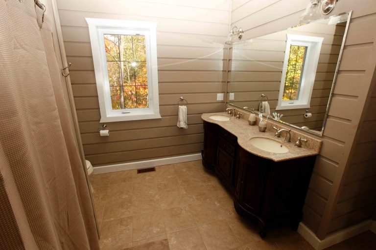 lakefield cottage build - bathroom