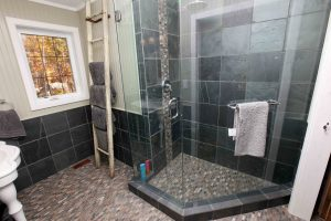 lakefield cottage build - shower