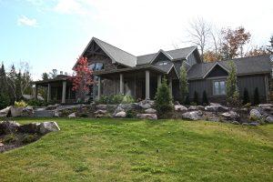 custom cottage build - side exterior