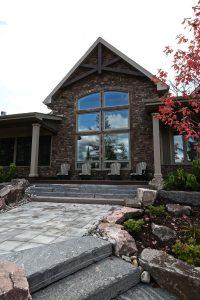 custom cottage build - great window