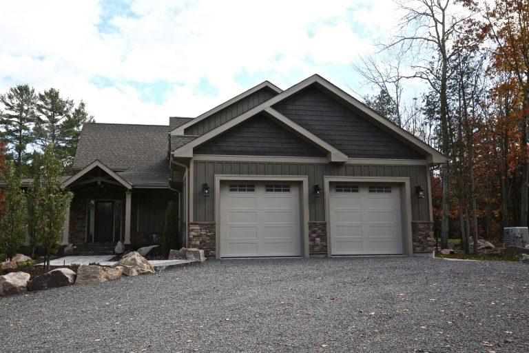 custom cottage build - attached garage