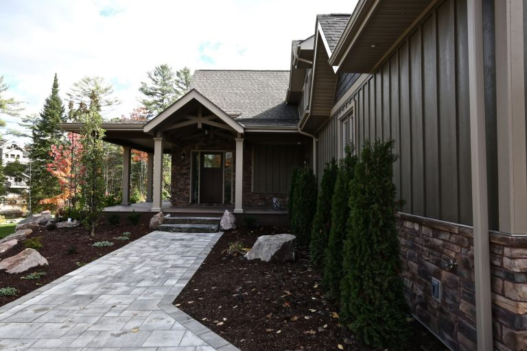 custom cottage build - front entry
