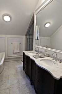 Stoney Lake Bathroom Renovation - Mirror and Vanity