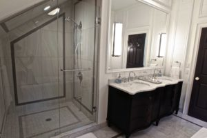 Stoney Lake Bathroom Renovation - Shower Glass and Vanity
