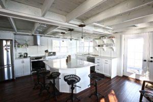 Stoney Lake cottage renovation - kitchen and island