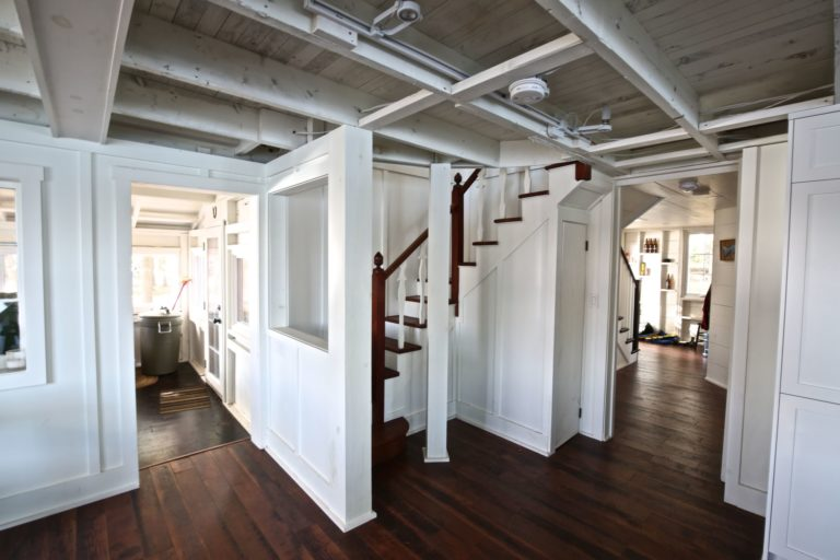 Stoney Lake cottage renovation - staircase