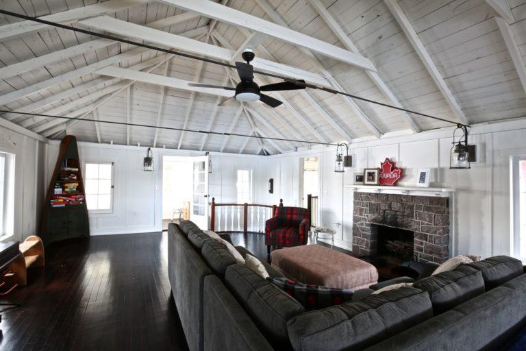 Stoney Lake cottage renovation - second floor living room