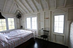 Stoney Lake cottage renovation - guest bedroom