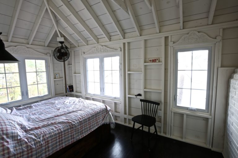 Stoney Lake cottage renovation - guest bedroom