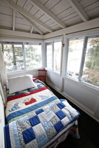 Stoney Lake cottage renovation - guest room