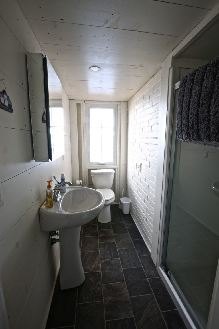 Stoney Lake cottage renovation - bathroom