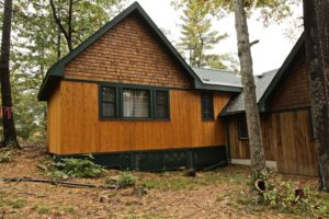 Stoney Lake island cottage renovation - new bunkie addition