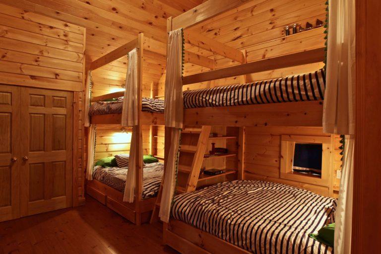 Stoney Lake island cottage renovation - custom bunkbeds