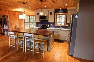 Stoney Lake island cottage renovation - kitchen and island