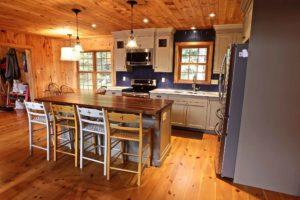 Stoney Lake island cottage renovation - kitchen and island