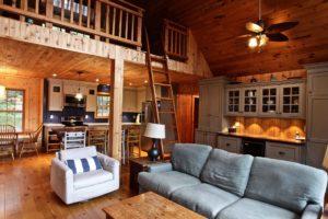 Stoney Lake island cottage renovation - living room