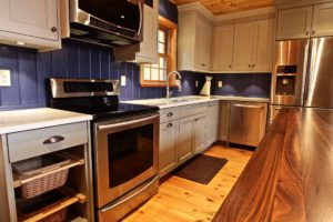 Stoney Lake island cottage renovation - kitchen stove