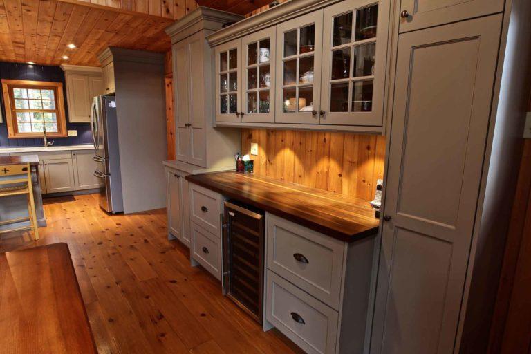 Stoney Lake island cottage renovation - cupboards
