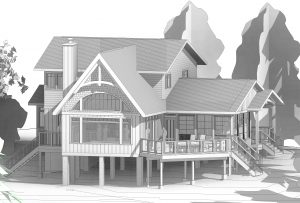 Custom Built Island Cottage - Revit Drawing