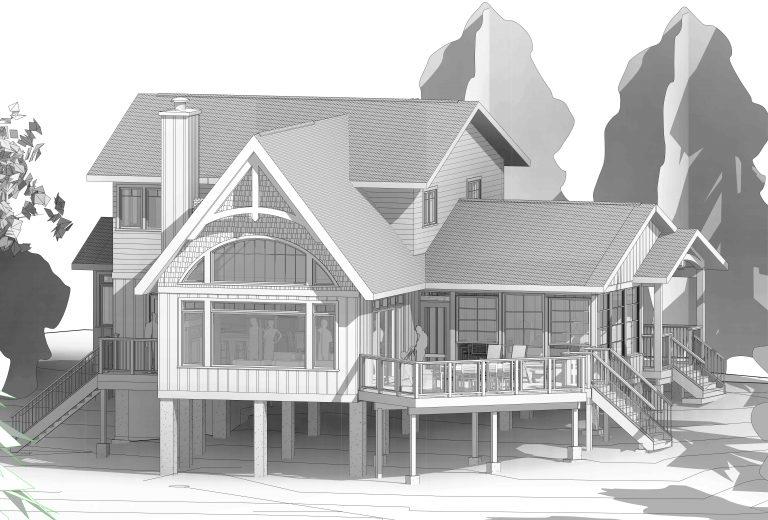 Custom Built Island Cottage - Revit Drawing