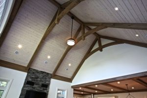 Custom Built Island Cottage - Timberframe Ceiling