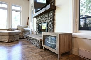 Custom Built Island Cottage - Fireplace