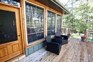 Custom Built Island Cottage - Side Deck