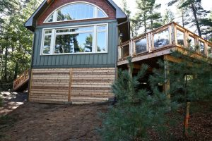 Custom Built Island Cottage - Side of Cottage Exterior