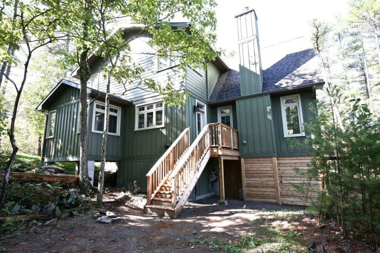 Custom Built Island Cottage - Back of Cottage