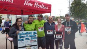 Team at Lakefield 5K