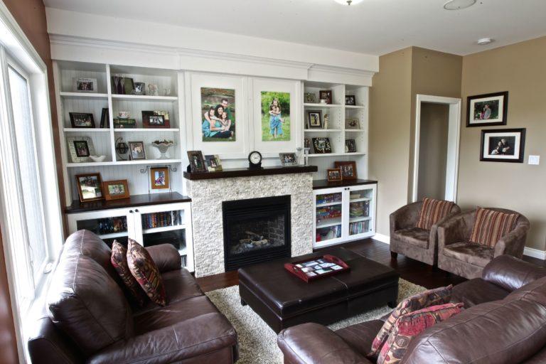 Custom Home Lakefield - Living Room