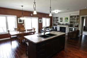 Custom Home Lakefield - Kitchen and Living Room