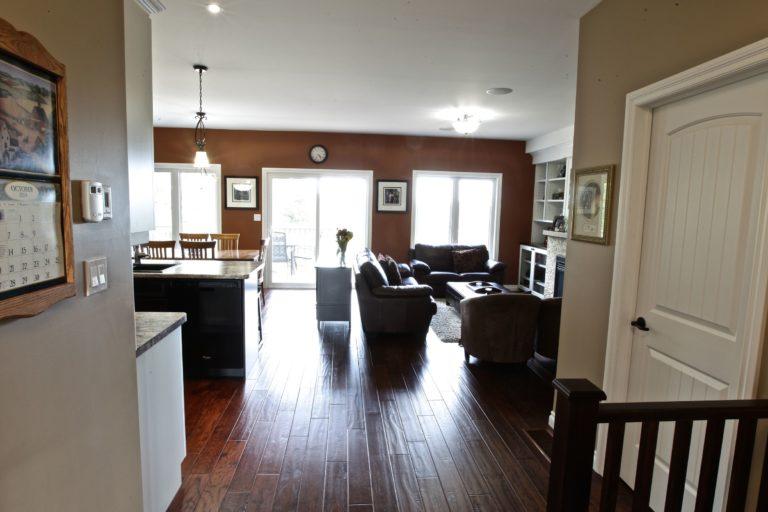 Custom Home Lakefield - Walking into Living Room
