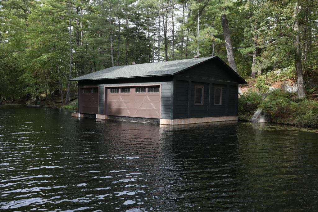 Stoney Lake Island Boathouse - Lakeview