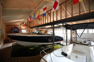 Stoney Lake Island Boathouse - Interior