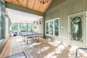 Stoney Lake Screened Porch - Ping Pong View