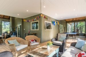 Stoney Lake Screened Porch - Interior Relax Area