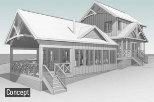 Cottage Exterior Revit