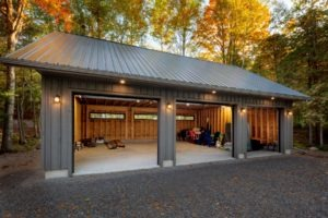 Garage - doors open