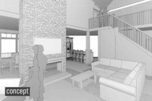 Living Room Revit Concept