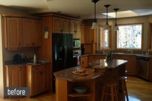 Winter Kitchen Before