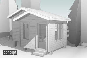 island cottage bunkie concept